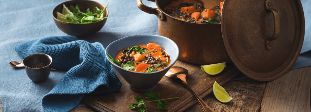Beluga-Linsen-Curry Rewe-Rezept glutunfrei und vegan