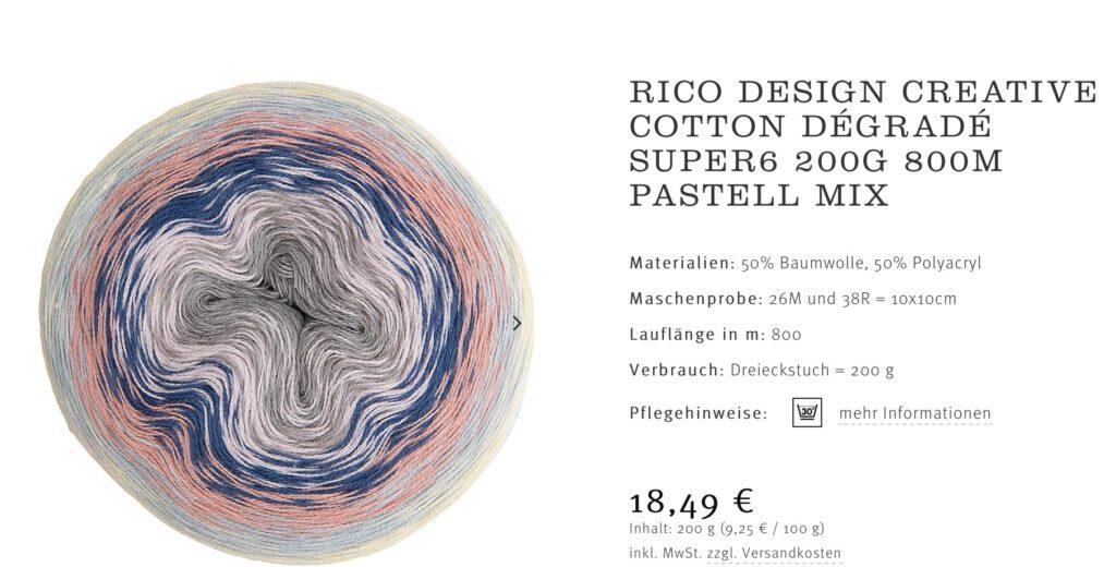 Rico Design Häkeltuch Sonnenflirt